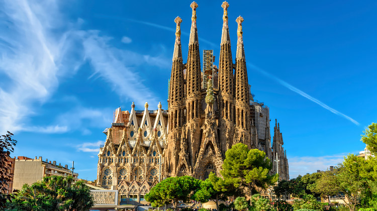 La Sagrada Familia bažnyčia Barselonoje